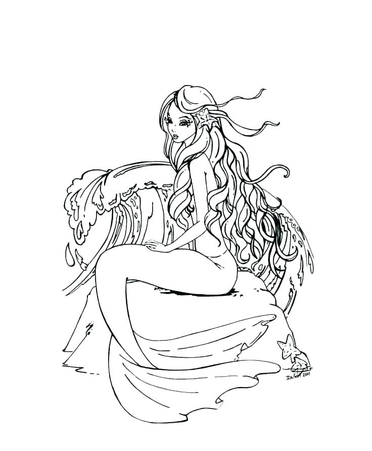 Mermaid Coloring Pages For Adults Best Coloring Pages For Kids