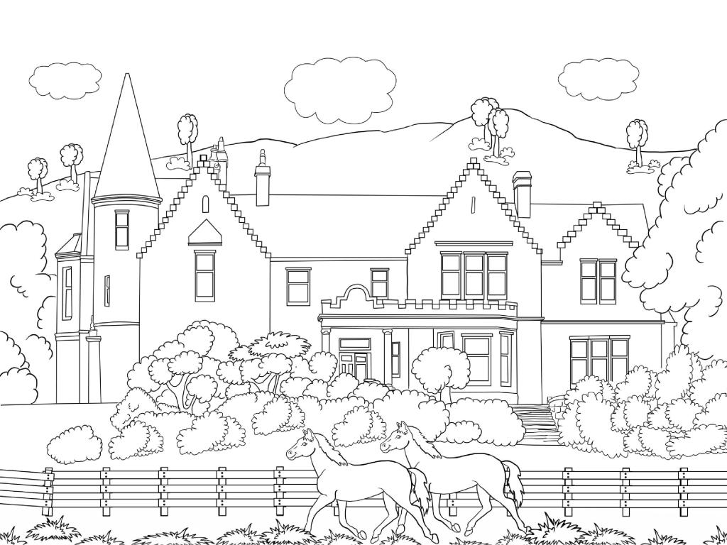 Scenery Coloring Pages For Adults