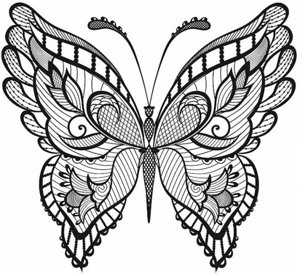 butterfly coloring pages for adults # 8