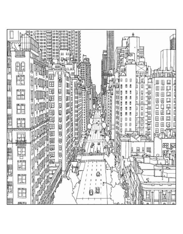city coloring pages # 1