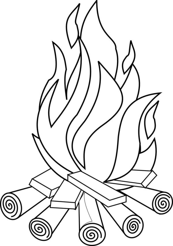 flames coloring pages # 3