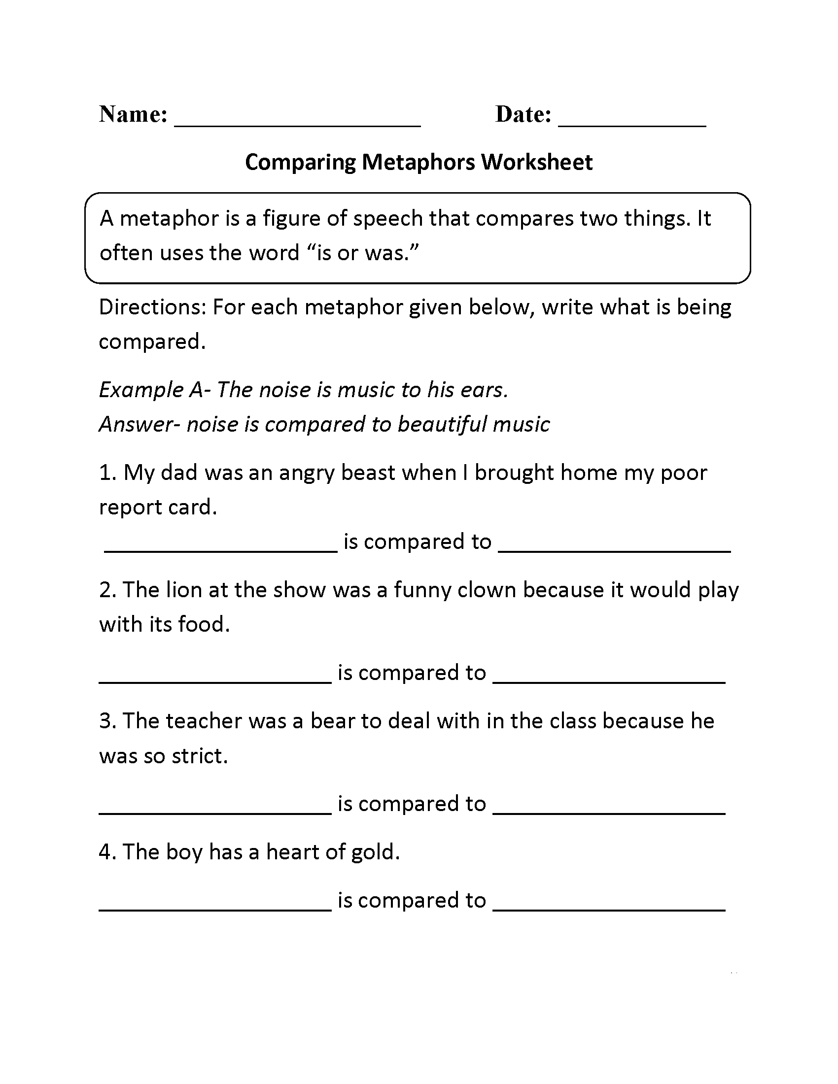 4th Grade Worksheets