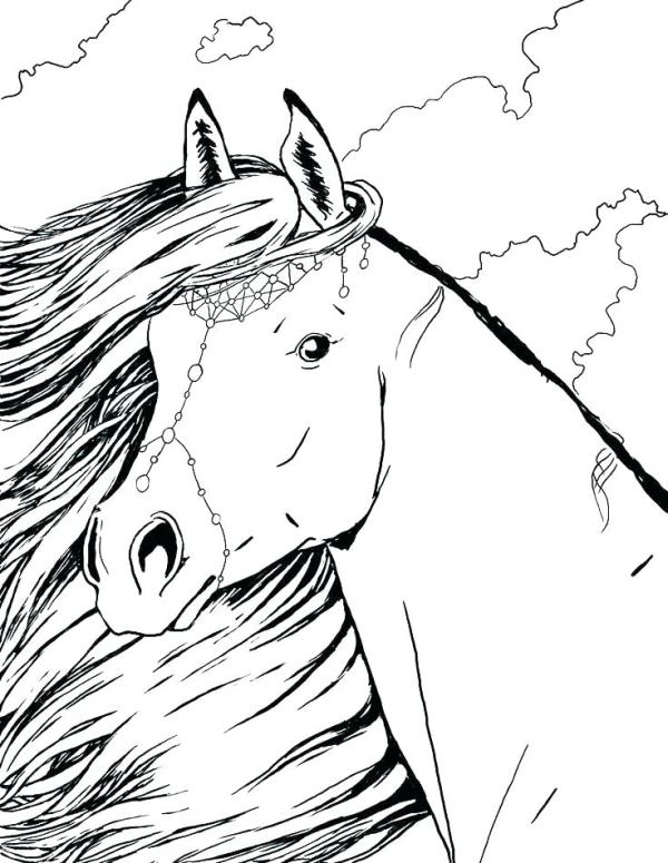 horse coloring pages # 20