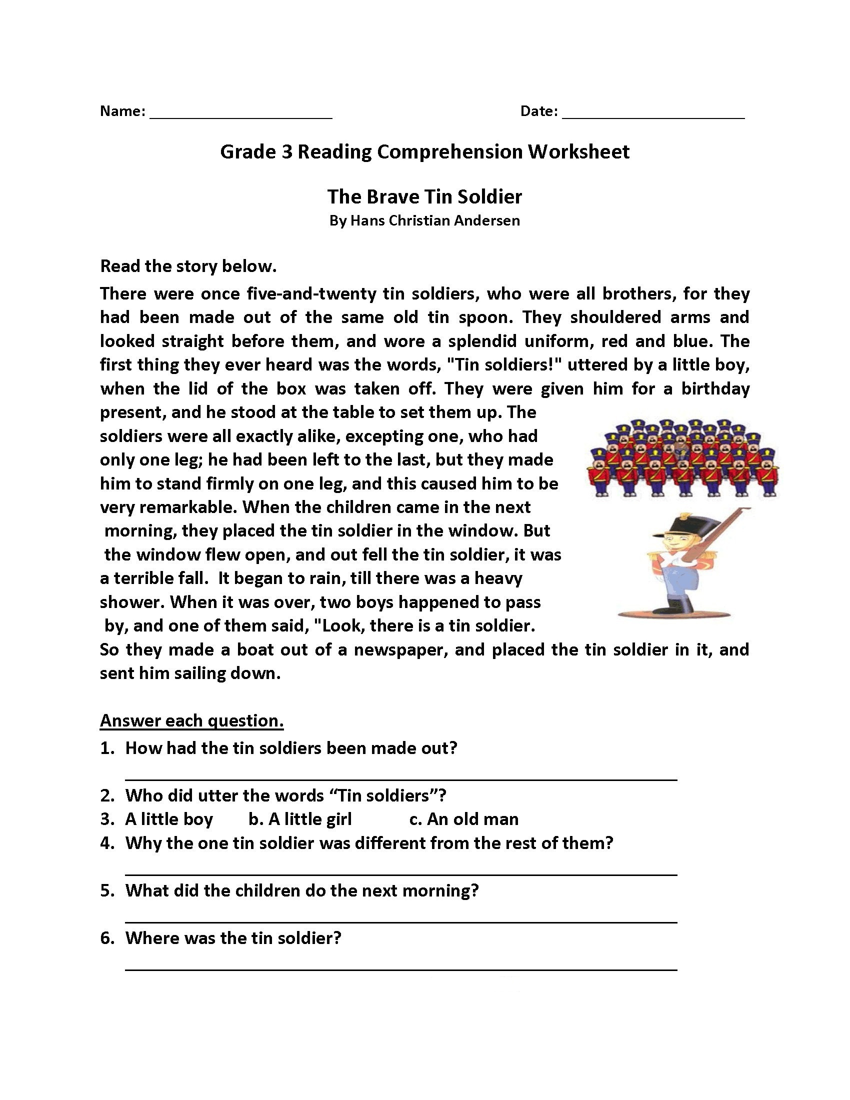 - Grade 4 Comprehension Worksheets Printable Worksheets And