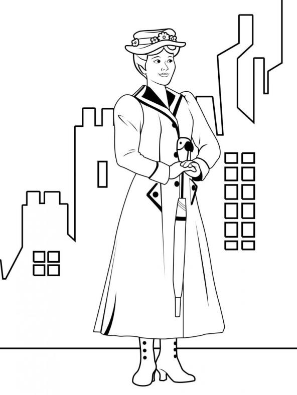 mary poppins coloring pages # 53