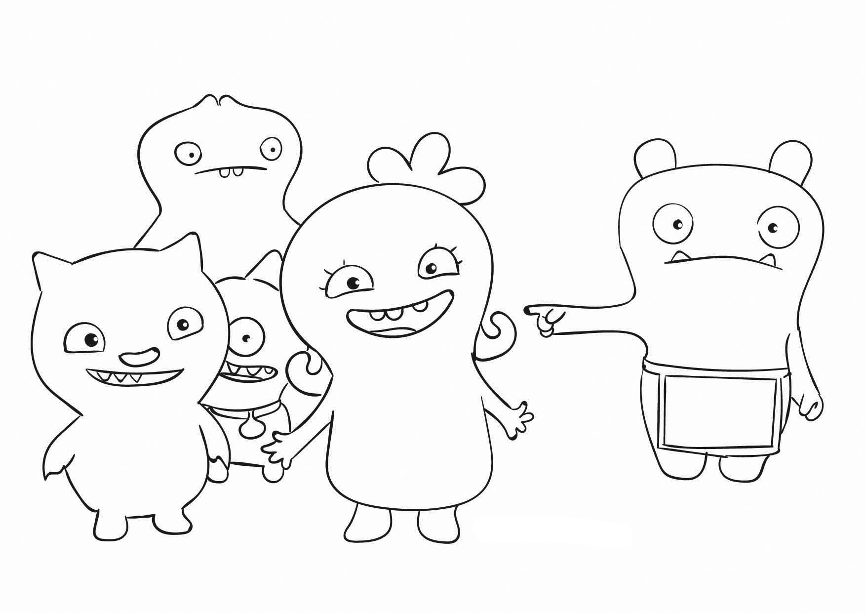 Ugly Dolls Coloring Pages