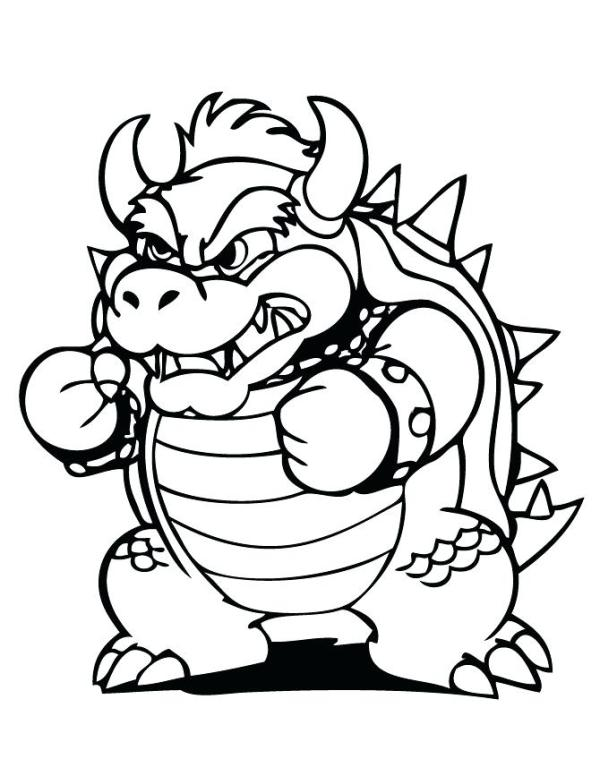 bowser coloring page # 6