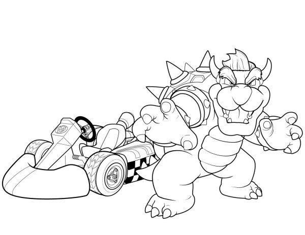 bowser coloring page # 68
