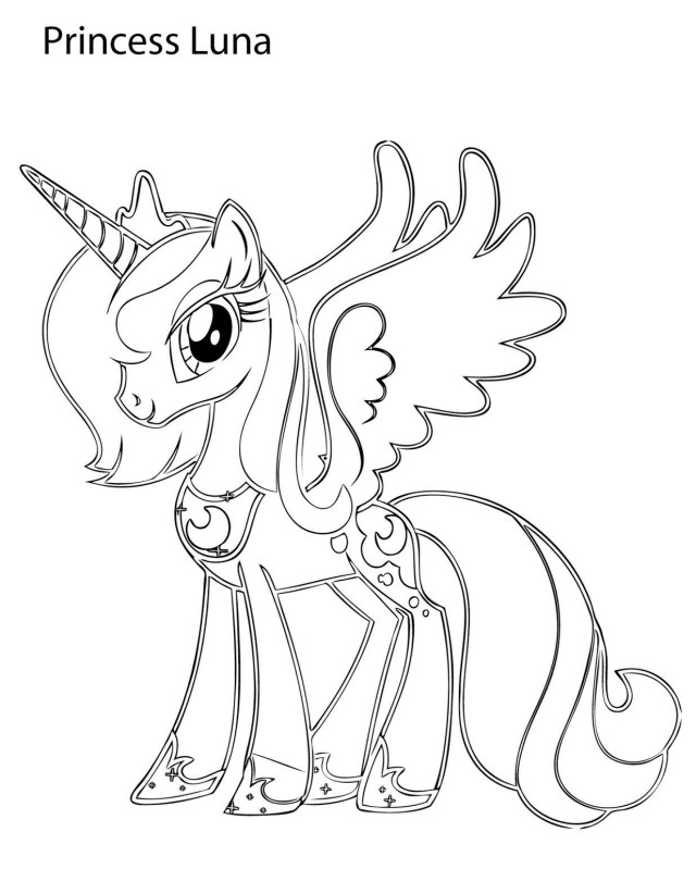 Princess Luna Coloring Pages - Best Coloring Pages For Kids