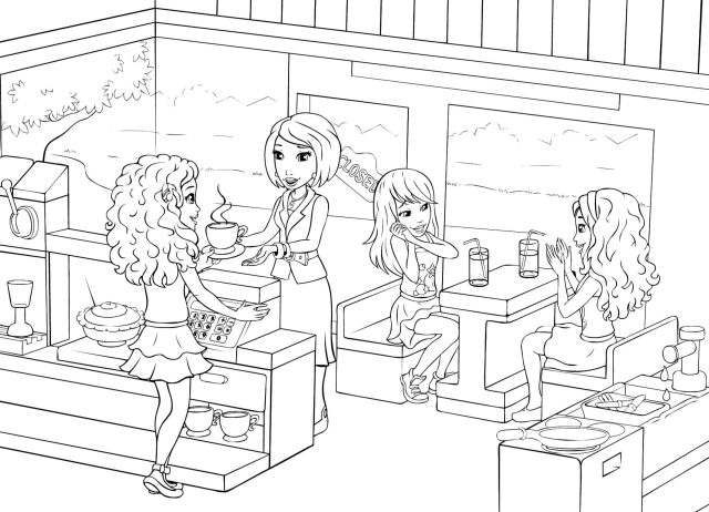 Lego Friends Coloring Pages - Best Coloring Pages For Kids