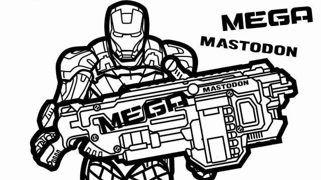 Nerf Gun Coloring Pages - Best Coloring Pages For Kids