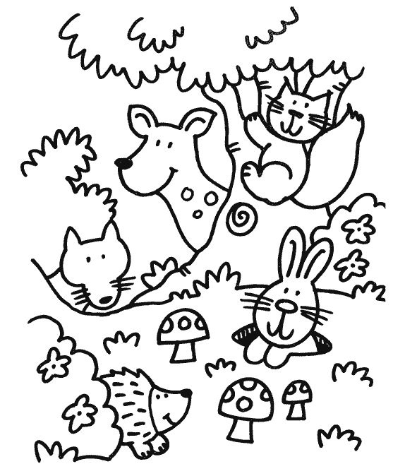Forest Coloring Pages in 2020 Animal coloring pages