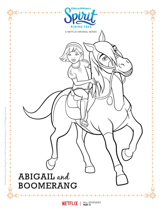 Spirit Riding Free Coloring Pages - Best Coloring Pages For Kids