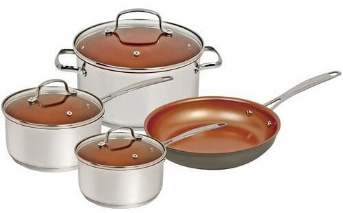 NuwaveSilver 7 Piece Cookware Set