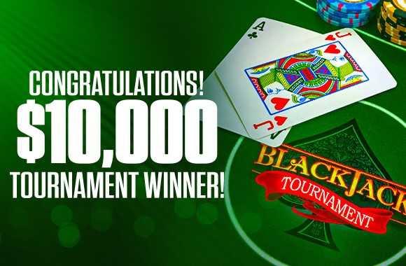 Free Weekly $10.000 Blackjack Tournament Winners at MyBookie