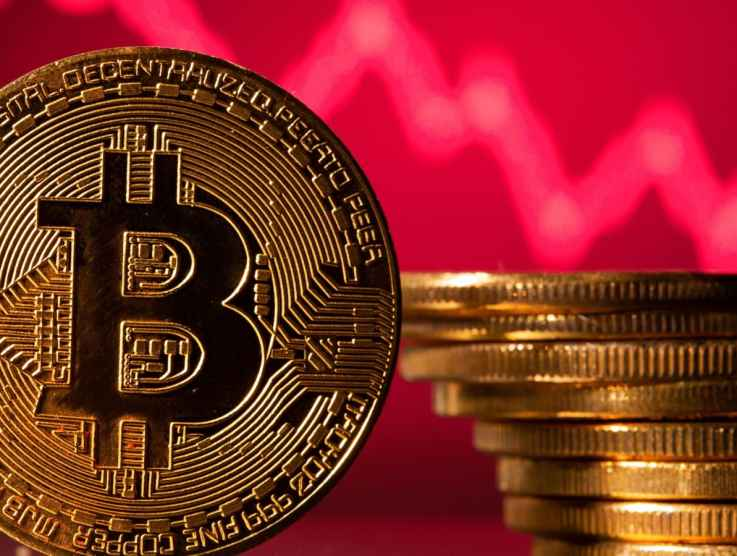 Bitcoin's price falls after biggest weekly gain in 3 months