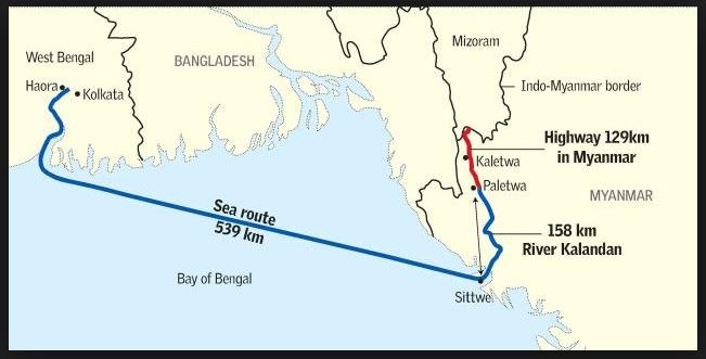 Kaladan Multi Modal Transit Transport Project - Best Current Affairs for  UPSC Civil Services Exam 2021-22