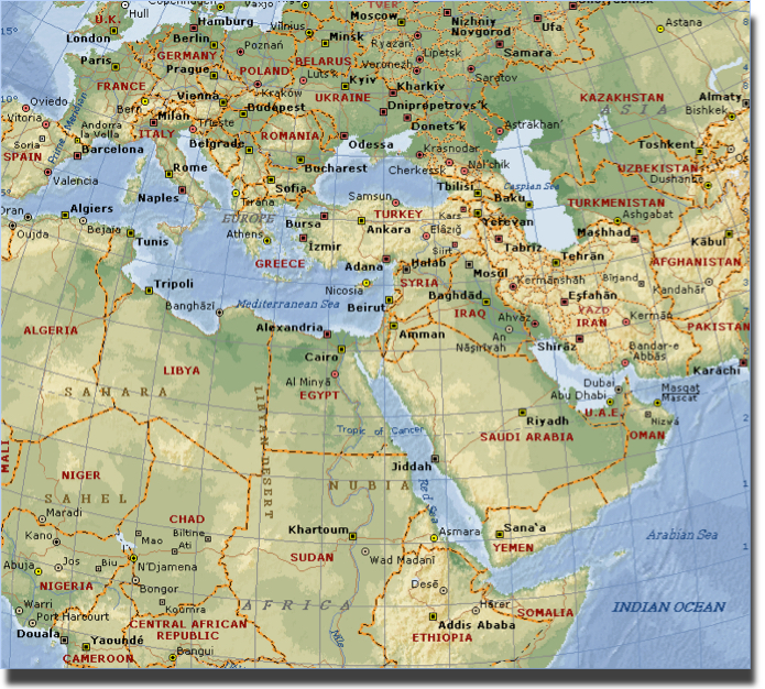 Ezek 38&39 Map of nations