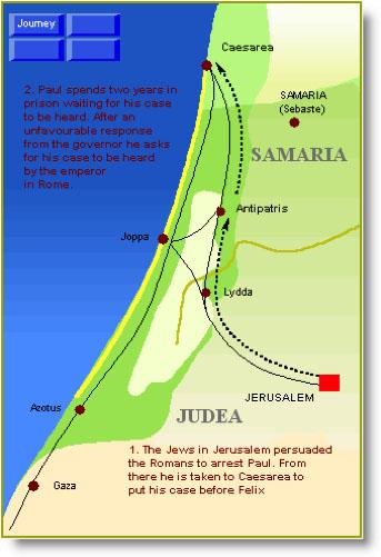 Jerusalem to Caesarea