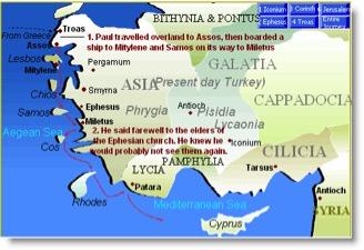Third Journey Return via Miletus