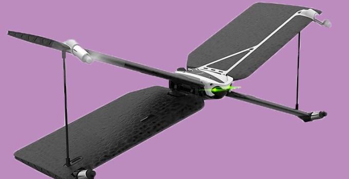 Drone Swing nero e bianco su sfondo viola