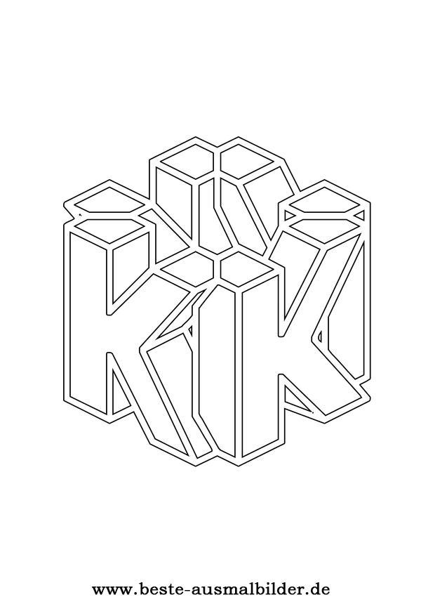 Buchstabe K Ausmalbild Fr Kinder Mit Dem Buchstaben K