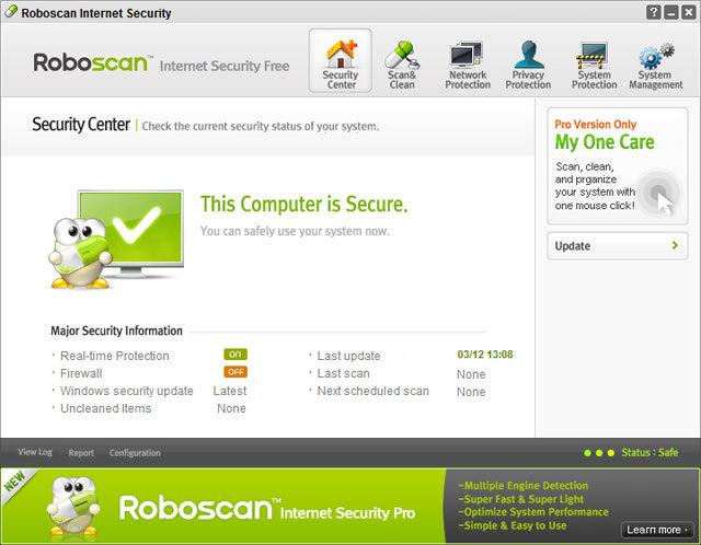 control panel roboscan antivirus software