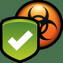 schild met malware er achter