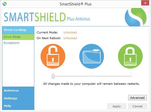 Bedieningspaneel centrurion antivirus plus shield