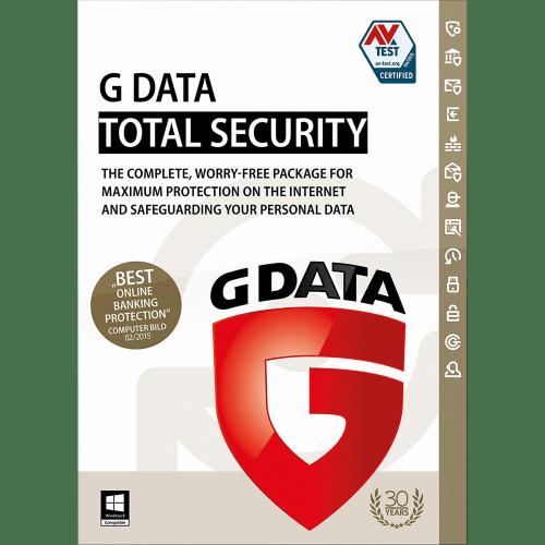 totaal beveiligings pakket van gdata