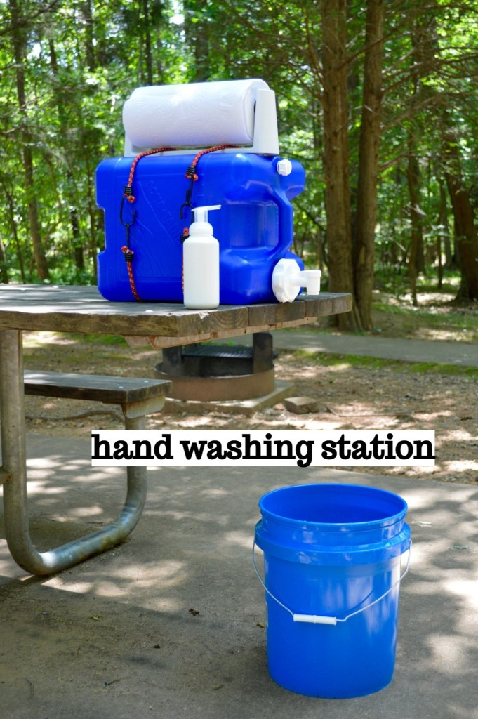 Use the hand washing station