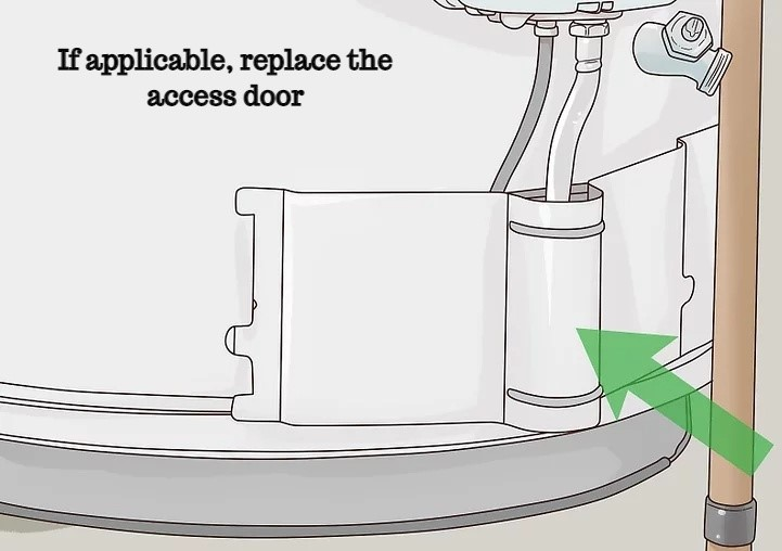 If applicable, replace the access door