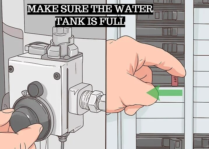 Make sure the water tank is full
