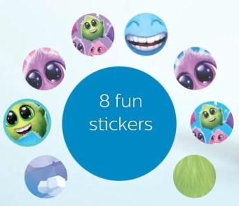 8 fun stickers