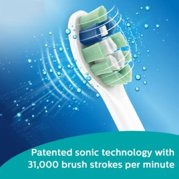 Patented sonic technology with 31,000 brush strokes per minute