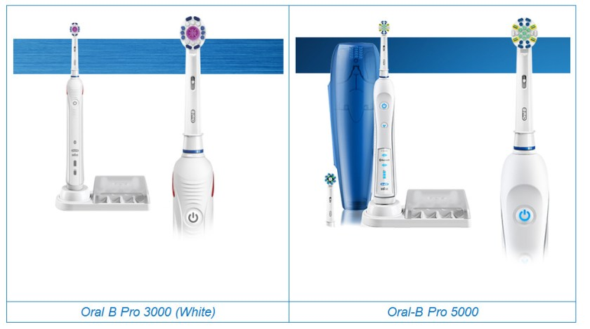 Oral-B pro 3000 vs 5000