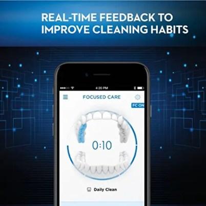 Real time feedback of Oral-B App