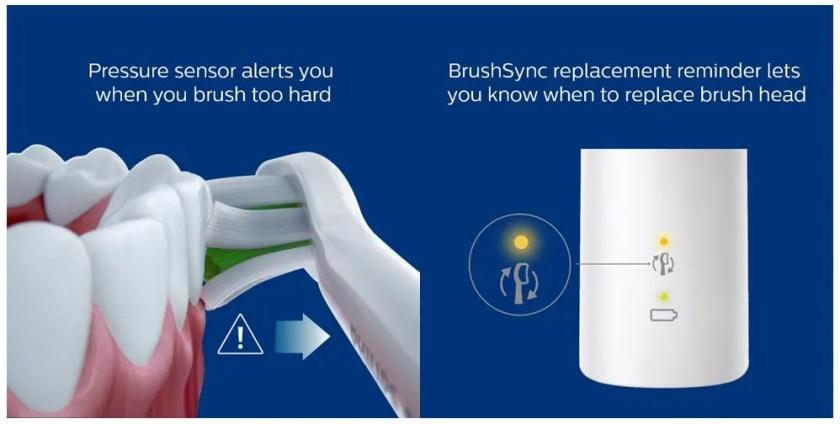 Pressure sensor and 6 BrushSync system of Pro 7000