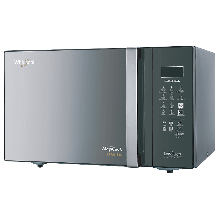whirlpool magic cook elite 30l microwave oven black