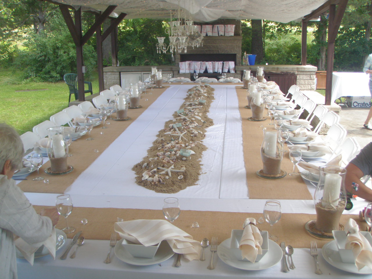 Golden Wedding Table Decorations