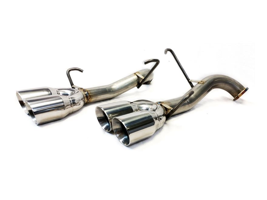 subaru wrx sti axle back exhaust no muffler polished tips