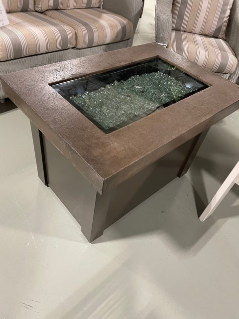 providence fire pit with supercast concrete top by the outdoor greatroom company