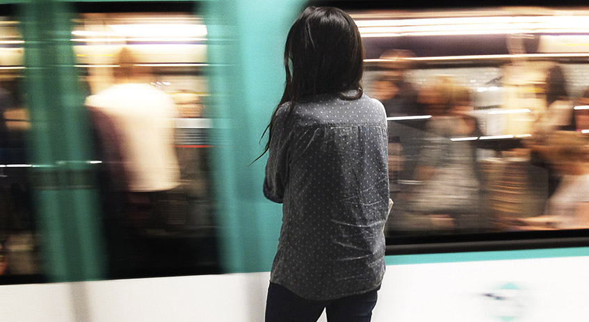 Woman in Paris Métro