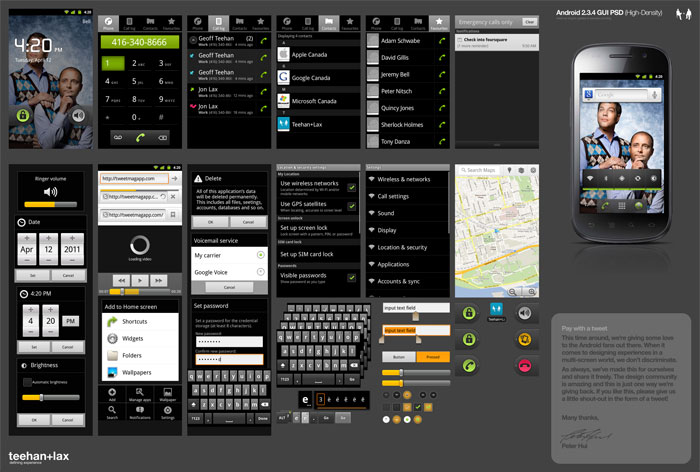 android gui 15 15 Fresh And Free Download GUI Kits for Android Developers