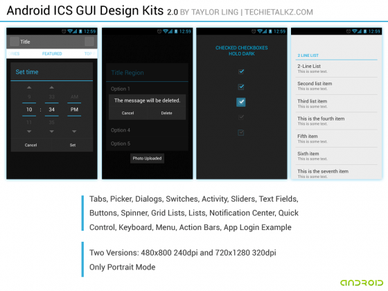 android gui 16 15 Fresh And Free Download GUI Kits for Android Developers
