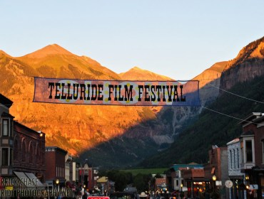 Mountains & Main Street of Telluride during Film Festival