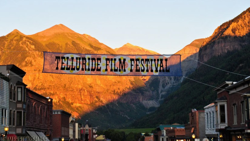 Mountains & Main Street of Telluride during Film Festival
