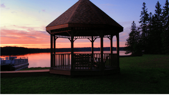Wooden gazebo kits