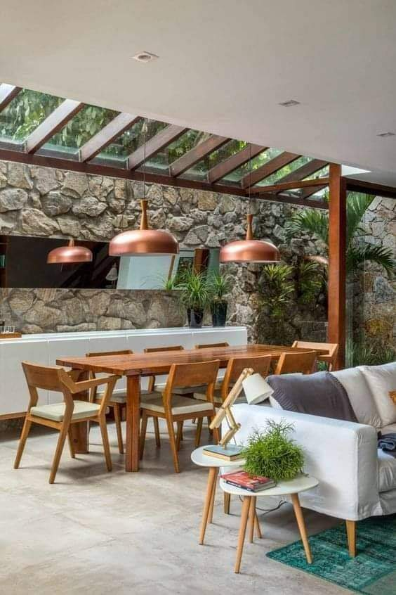 Pergola with tables