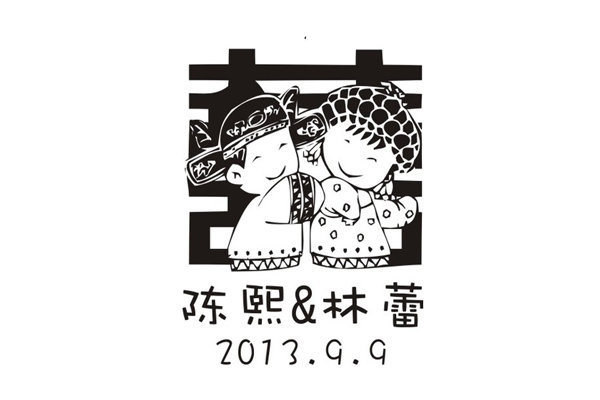 Personalized Rubber Stamp For Chinese Wedding Logo Style Diy Invitation